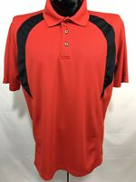 GRAND SLAM Mens Polo Shirt L Red Golf Performance Polyester S/S Casual