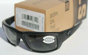 COSTA DEL MAR Fantail POLARIZED Sunglasses Blackout/Gray 580G NEW $229