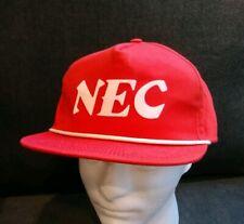 NEC Nippon electric corporation Cap Hat vintage Snapback old logo great gift EUC