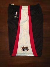 Philadelphia 76ers Reebok Shorts Size Large NBA Black Red White