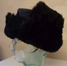 New Kids Boys Girls Faux Fur Ushanka Russian Hat Black Age 8-10