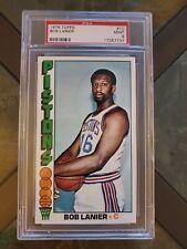 BOB LANIER 76 1976 Topps Graded PSA 9 Card #10 Vintage Pistons MINT