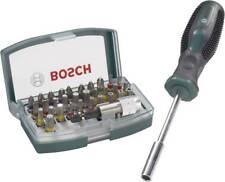 "Bosch Bit Set 32 tlg  2607017189 Kreuz Sschlitz Phillips Torx Halter 1/4"" 6.3 mm"