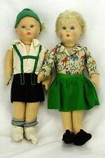 Vintage Steiff Boy and Girl Felt Doll ca1920-1930