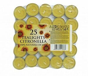 Prices Citronella Tealights 25 Pack Insect Repellent