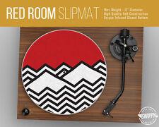 "Twin Peaks Red Room Pattern Turntable Slipmat - 12"" LP Record Player, DJ Slipmat"