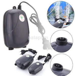 High Quality Efficient Aquarium Fish Tank Pond Oxygen Air Pump Super Silent US