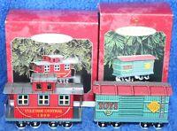 Hallmark Keepsake Ornament Yuletide Central Caboose & Toys Car Ornaments