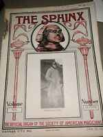 Sphinx Harry Rouclere 1921 Issue Official Organ Society American Magicians
