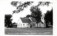 C73/ Rio Wisconsin Wi Postcard Real Photo RPPC c50s Redemer Lutheran Church