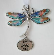 zzcc Live love laugh Delightful Dragonfly Ornament Ganz