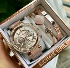 Michael Kors Parker Chronograph Watch + Bangle Set