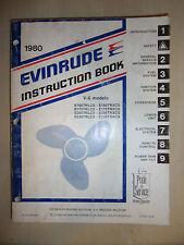 EVINRUDE MARINE V6 V-6 1980 OUTBOARD ENGINE SERVICE MANUAL 150HP 175HP 200HP 235