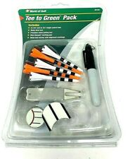 World of Golf Tee To Green Pack Metal Divot Tool Brush Grooving Tool New Sealed