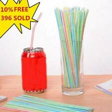 100Pcs Disposable Flexible Straws Plastic Juice Straws Drinking Supplies