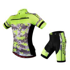 Maglia da ciclismo da uomo, manica corta e pantaloncini MTB Abbigliamento da
