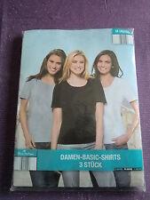 Blue Motion, Damen-Shirts, 3-er Set, weiß, grau, schwarz, Gr. 40/42, Baumwolle