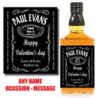 PERSONALISED TENNESSEE Whiskey / Whisky Bourbon BOTTLE LABELS CHRISTMAS SANTA