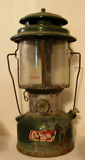 COLEMAN LANTERN Double Mantle Pyrex GLASS Globe 220F Camping Light Lamp Vintage