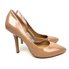 BCBG Womens Classic Pump Stiletto High Heels Shoes Beige Tan Slip On  9 B