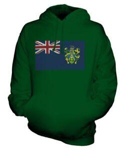 PITCAIRN ISLANDS SCRIBBLE FLAG UNISEX HOODIE TOP GIFT FOOTBALL