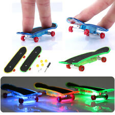 2pcs Mini Skateboard Toys Finger Board Boy Children Gifts LED Light Gift New