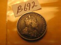 Canada 1910 5 Cent Rare Silver Coin ID#B692.