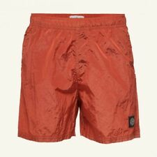 Stone Island B0943 Nylon Metal Swimming Shorts Orange Red