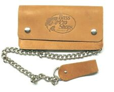 Bass Pro Leather Biker Wallet with Chain - 7  inch - Brown
