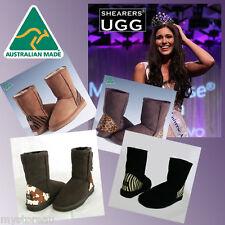 HAND-MADE Genuine Australia Shearers UGG Classic Short Sheepskin Boots w Print