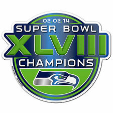 "Seattle Seahawks NFL 2013 2014 Super Bowl XLVIII 48 Champions 6"" Logo Car Magnet"