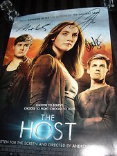 Jake Abel Max Irons Diane Kruger signed The Host 11 1/2  x 17 mini poster