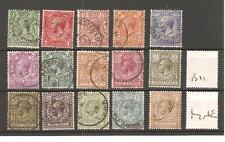 GEORGE V -B11- 1912-1924  - DEFINITIVES - ROYAL CYPHER  FINE USED - SG CAT £95