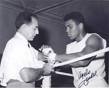 ANGELO DUNDEE signed 8x10 photo Boxing HOF Legend - Deceased