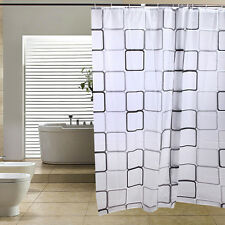 Neu Modern Badezimmer Sitzwanne Duschvorhang mit Haken 180 x 200 cm  ET