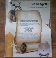 Witches Wish Spell Poster. Laminated. Witchcraft/Wicca/Pagan/Gothic. Spells