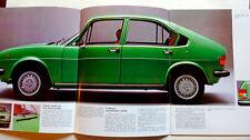 catalogue  publicité ALFA ROMEO Alfasud Super automobilia