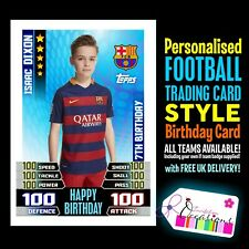 MATCH ATTAX CARD STYLE PERSONALISED BIRTHDAY CARD