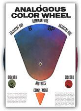 Art Colorwheel Original Hal Reed ANALOGOUS COLOR WHEEL ARTIST PAINT WHEEL New