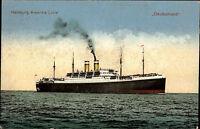 ~1920 Steamer Dampfer Schiff DEUTSCHLAND Hamburg-Amerika Linie Schiffsfoto-AK