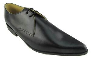 Rétro Gibson HOMME Sélecteur de Winkle Chaussures Cuir Noir à Lacets Pointu Bout