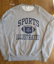 Vintage Gray Sports Illustrated Football Sweater Jacket Adult XL