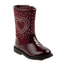 LAURA ASHLEY Toddler Girl's Fashion Burgundy Red Heart Cowboy Boots SIZE 7 NEW!