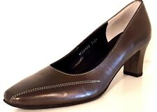 ROS HOMMERSON H38402 PETTIS Metallic Bronze Leather Pumps Women Size: 7.5 Narrow