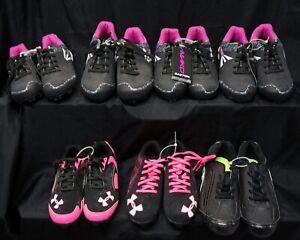 Under Armor & Easton Spike Soccer Kids Shoes Lot US Sizes 2.5  1.5  3.5  5