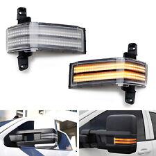 Dual-Row Amber LED Strip Tow Mirror Marker Lights For Chevy Silverado GMC Sierra