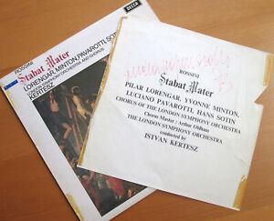 SXL 6534 Luciano Pavarotti SIGNED AUTOGRAPHED Rossini Stabat Mater Decca LP