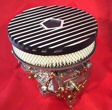"AussieSpeed MOPAR 9"" BLACK Finned Aluminum AIR CLEANER ASSY slant six filter"