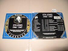 Etta Jones  1944-1947 (1999) cd Very Good / Excellent