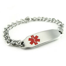 MyIDDr - Womens - Pre Engraved - LEUKEMIA Alert ID Bracelet